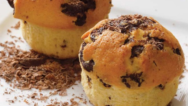 recipe image Muffins με κομματάκια σοκολάτας